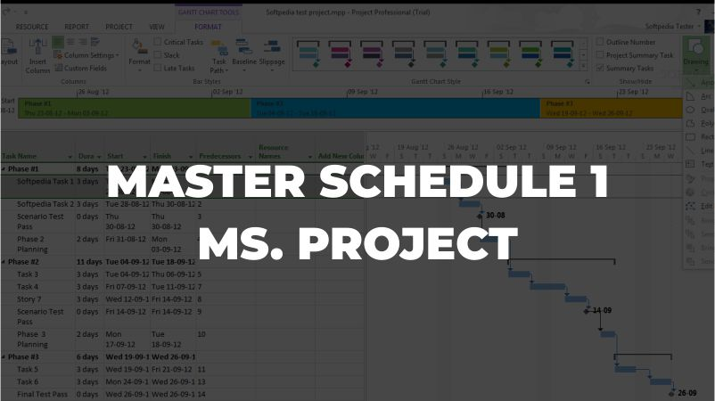 Course Image Master Schedule 1 - Ms. Project