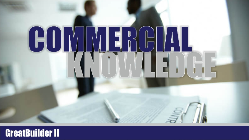 Course Image  Commercial Knowledge (Batch 01)
